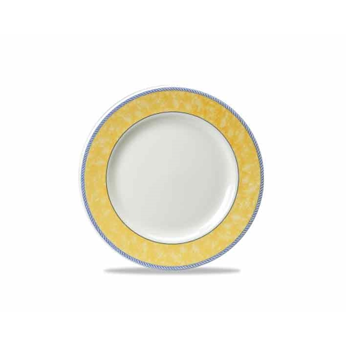 Piatto piano New Horizons in ceramica vetrificata gialla cm 25,4