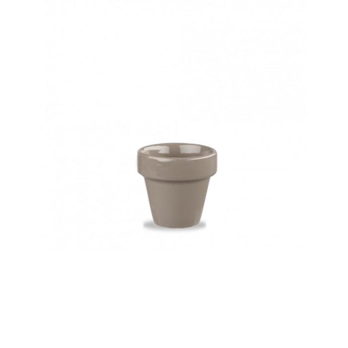 Vasetto Plant Pot Churchill in ceramica vetrificata grigia cl 11