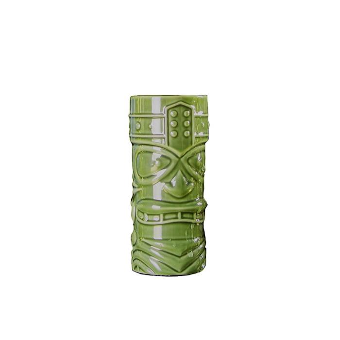 Tiki mug Funky in porcellana verde cl 40