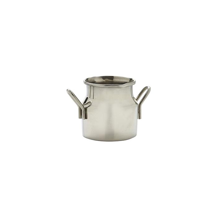 Mini secchiello per latte in acciaio inox cl 7,5