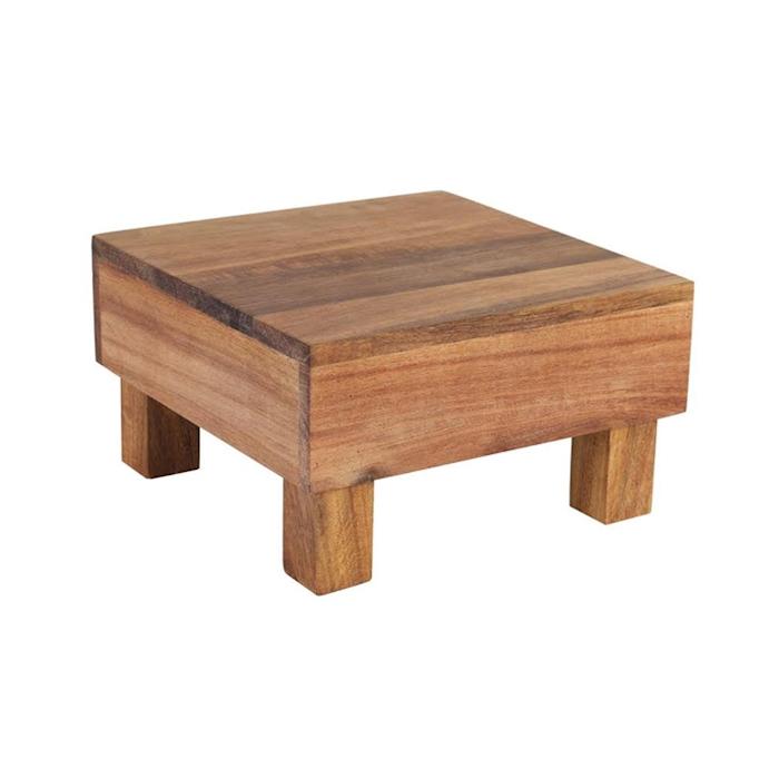 Alzata Acacia in legno cm 18x18x10
