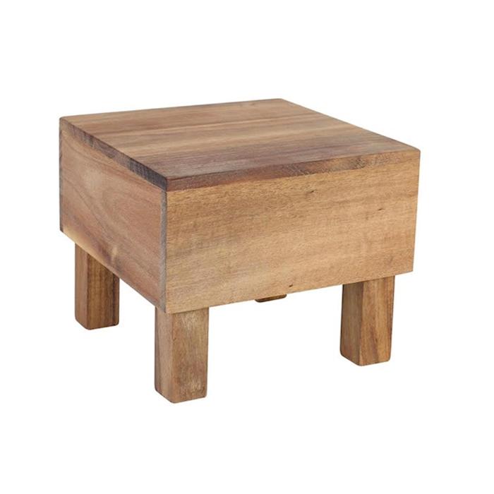 Alzata Acacia in legno cm 18x18x15