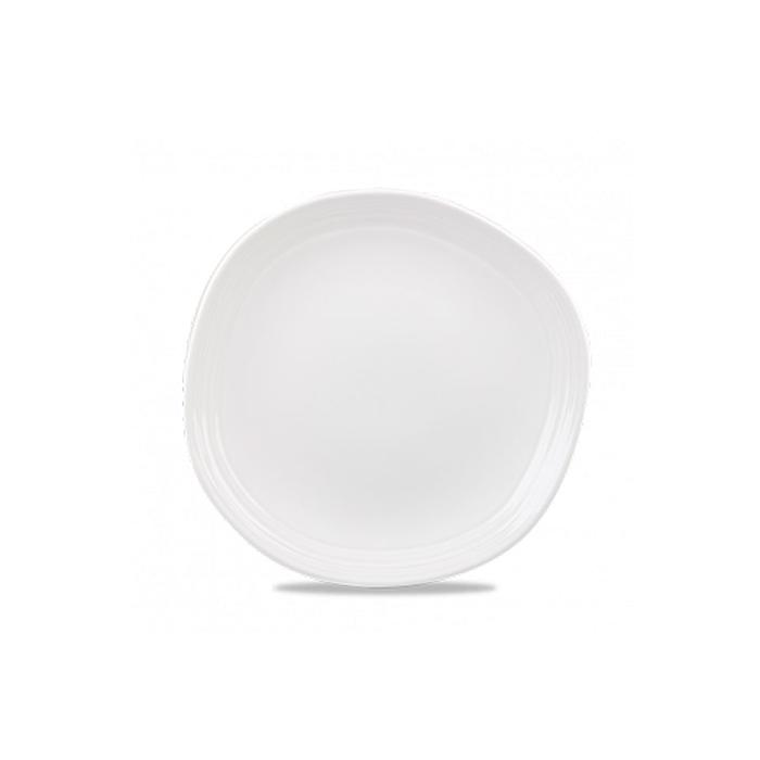 Piatto piano Discover Churchill in ceramica vetrificata bianca cm 28,6