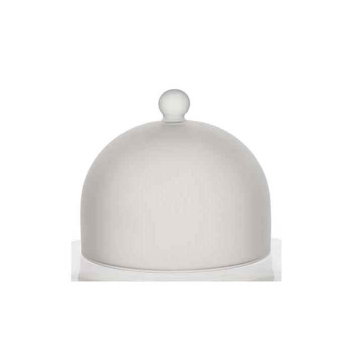 Cupola tonda Snow 100% Chef in vetro satinato cm 14