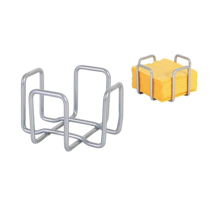 Porta tovaglioli in acciaio inox cm 11x11x7