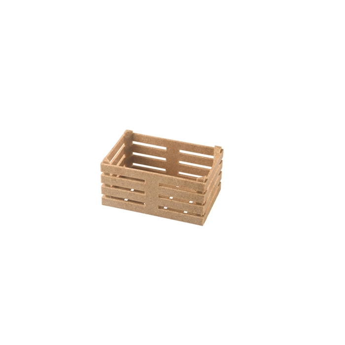 Cassetta in fibra di legno e pp color naturale cm 11x7x5