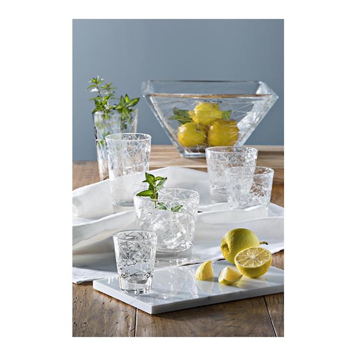 Bicchiere Dolomiti small Vidivi in vetro lavorato cl 22
