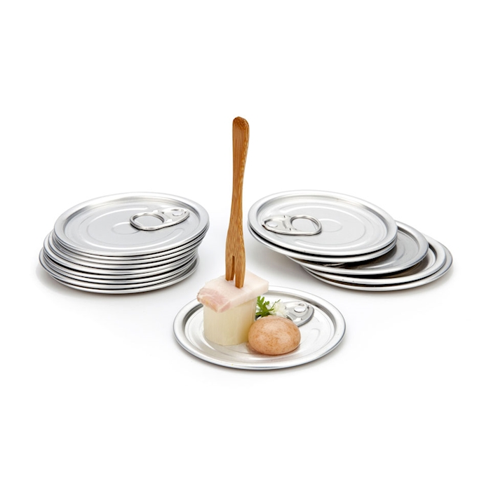 Piattini Tapa 100% Chef in alluminio cm 8