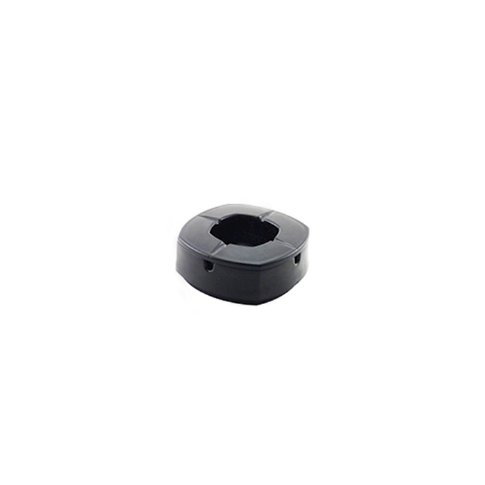 Posacenere antivento in nylon nero cm 9,7x9,7x3,6