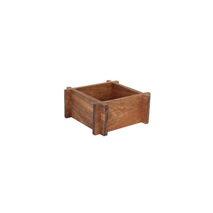Alzata in legno d'acacia naturale cm 17,5x17,5x7,5