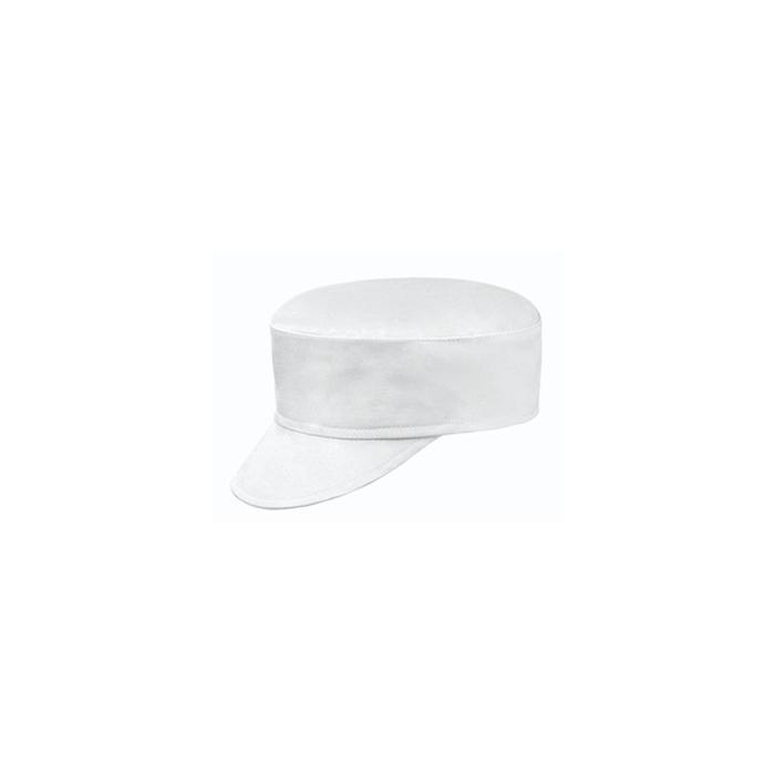 Berretto con aletta 100% cotone bianco