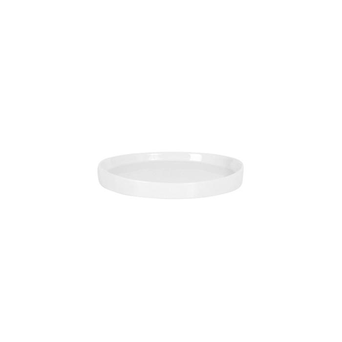 Vassoio tondo in porcellana bianca cm 15