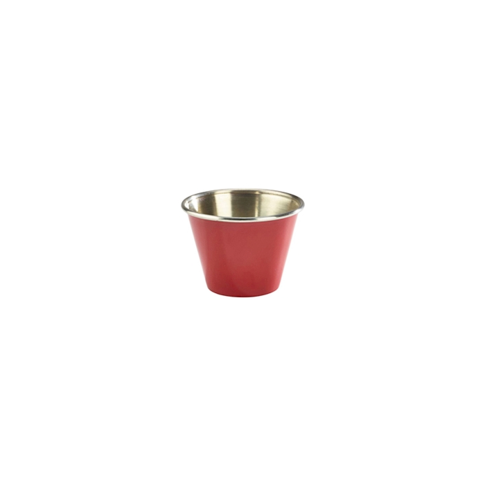 Coppetta Ramekin in acciaio inox rosso cm 6
