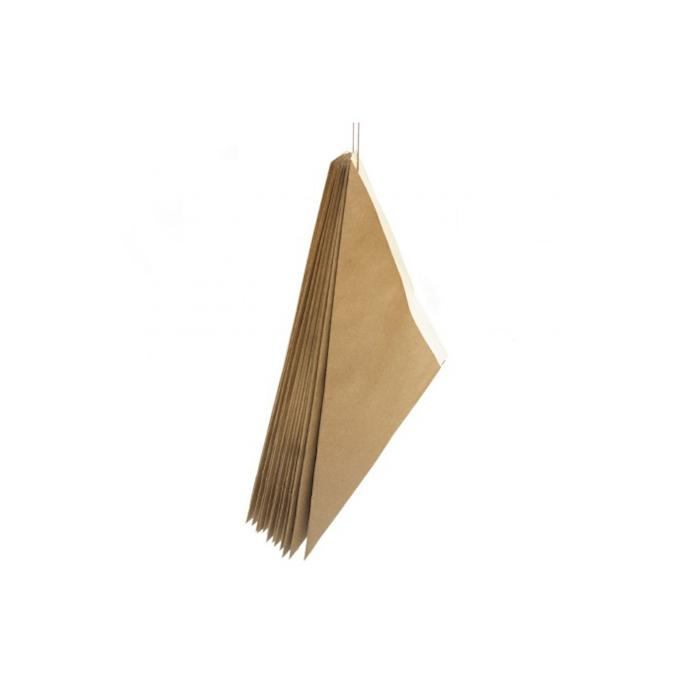 Coni monouso in carta marrone con interno bianco cm 24x17