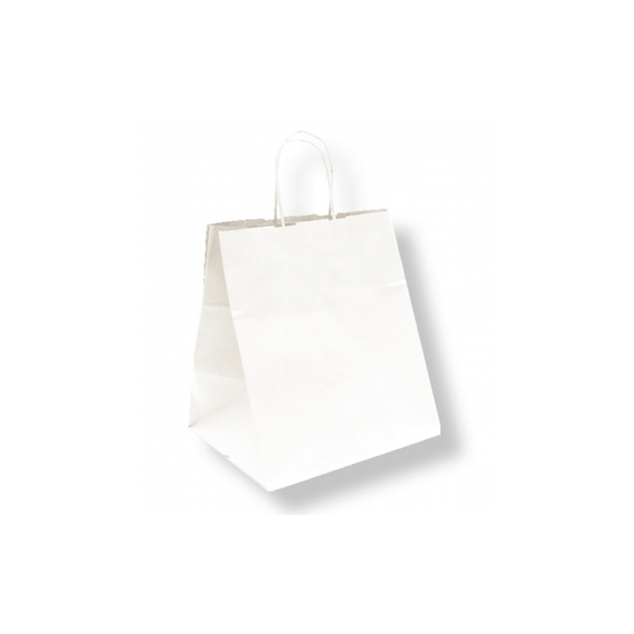 Borse Havana con manici in corda in carta bianca cm 26x20x27