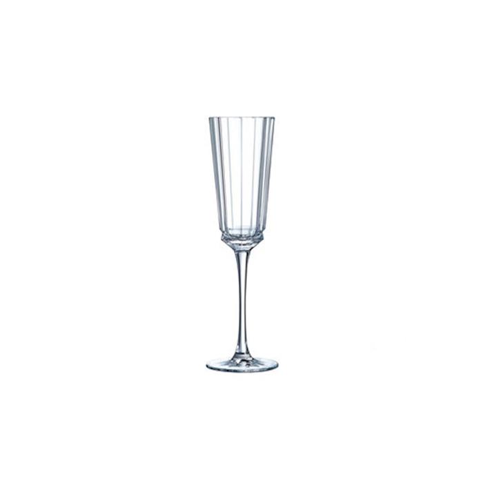 Flute Macassar in vetro decorato cl 17