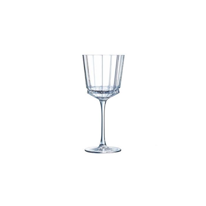 Calice Macassar in vetro decorato cl 35