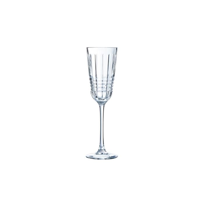 Flute Rendez-Vous in vetro decorato cl 17