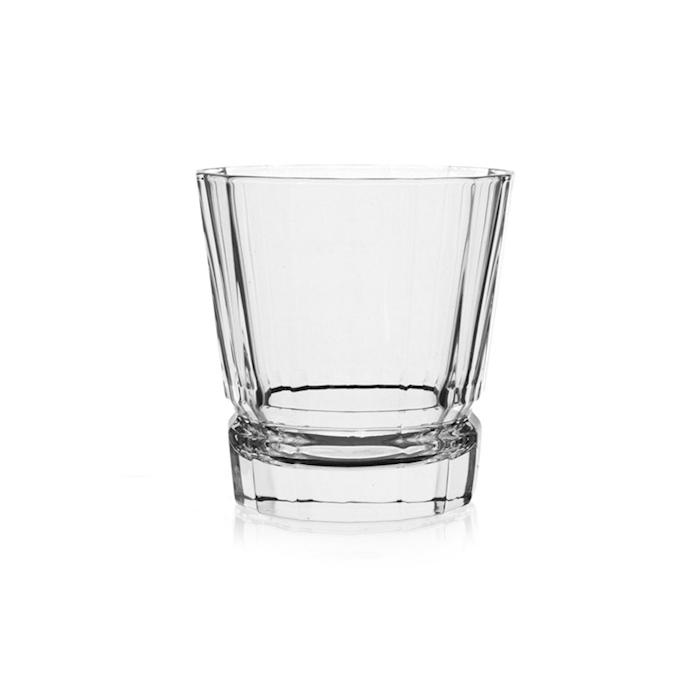 Bicchiere Macassar in vetro decorato cl 32