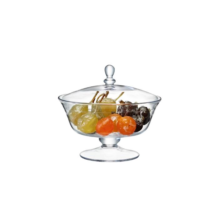 Centrotavola Serve LSA con coperchio in vetro cm 21