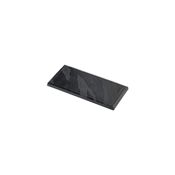Piatti pietra monouso in polistirene nero cm 30x14