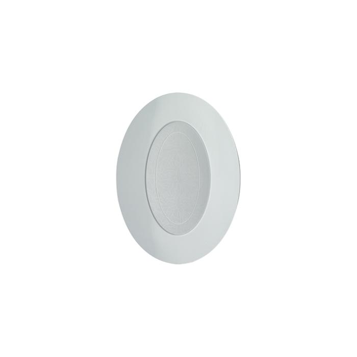 Piatto ovale Alvi in polistirene bianco cm 25x18,5