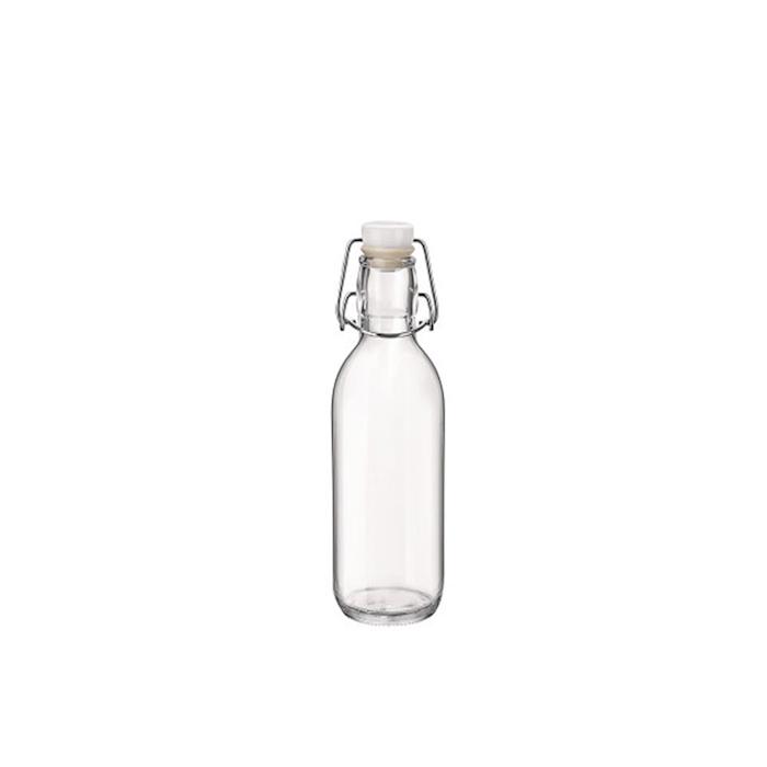 Bottiglia Emilia Bormioli Rocco con tappo ermetico in vetro cl 50
