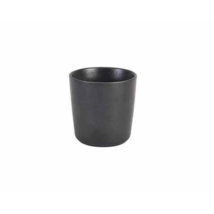 Bicchiere Forge in ceramica metallizzata nero cl 30