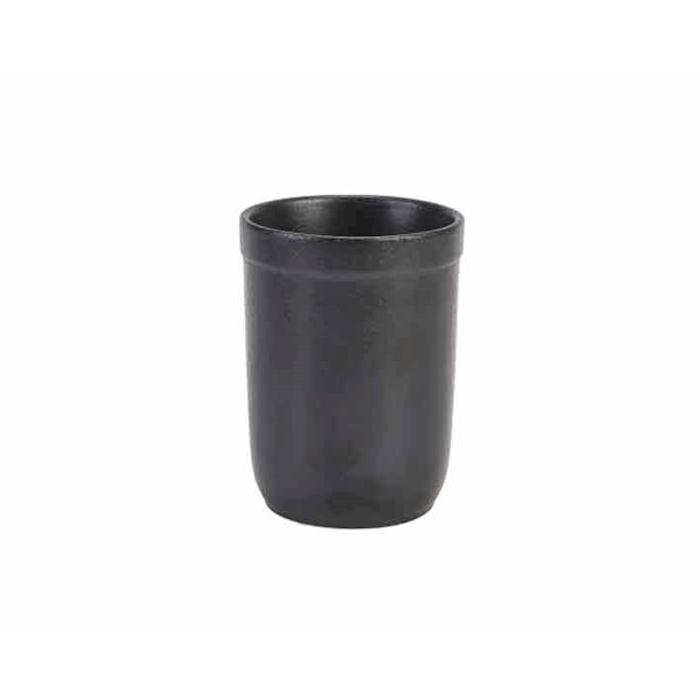 Bicchiere Forge in ceramica metallizzata nero cl 50