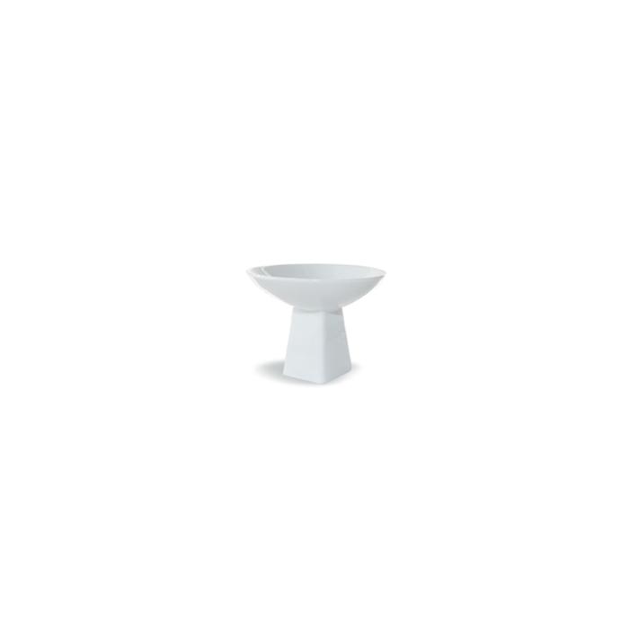 Mini alzata tonda Miniature in porcellana bianca cm 8x6,3
