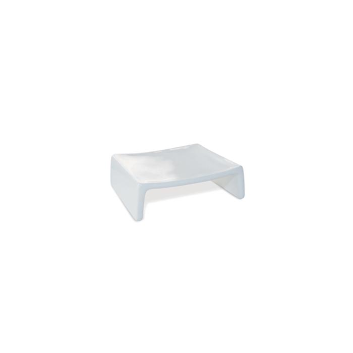 Mini alzata quadra Miniature in porcellana bianca cm 7x7x2,5