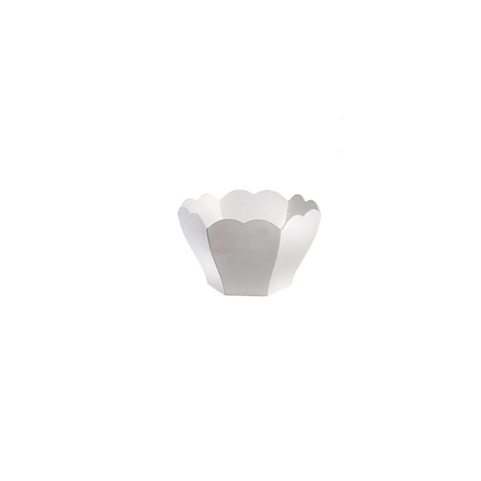 Coppetta King monouso in plastica bianca cl 7