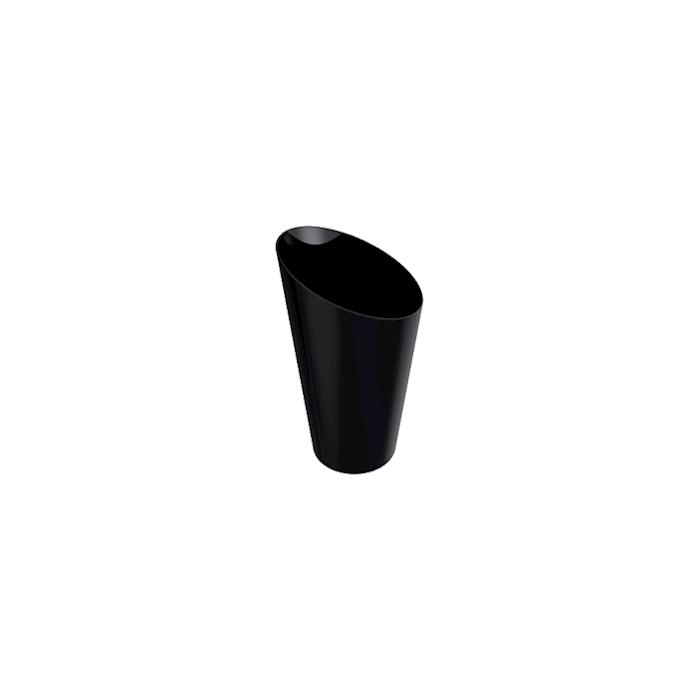 Bicchierino Bamboo monouso in plastica nera cl 7,5