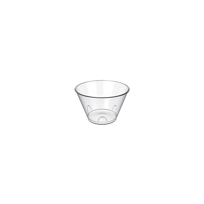 Coppetta Tulipano monouso in plastica trasparente cl 7