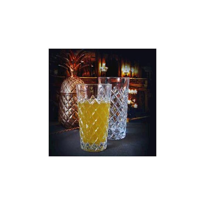 Bicchiere Healey taglio a rete in vetro cl 31