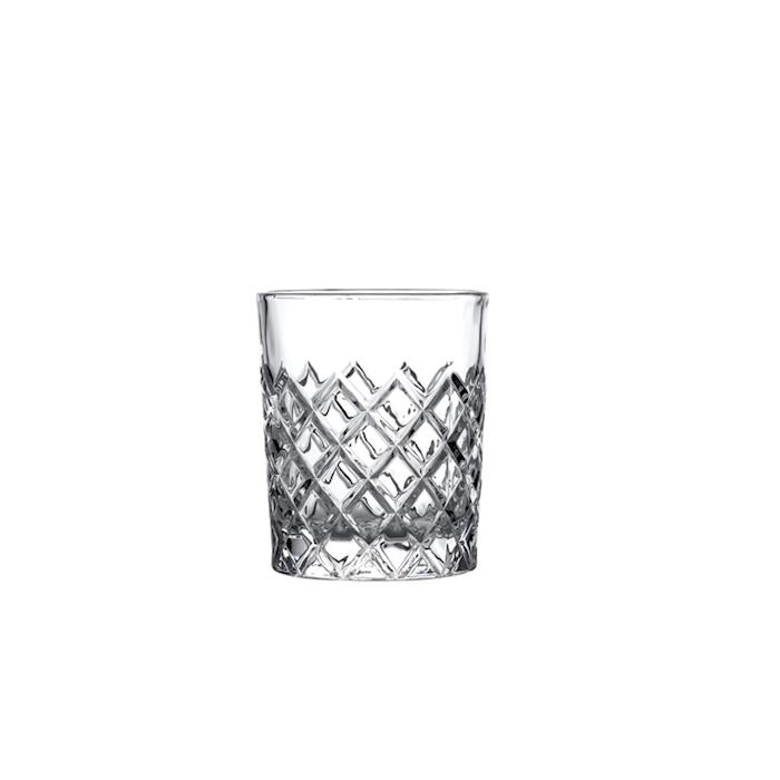 Bicchiere Healey DOF taglio a rete in vetro cl 31