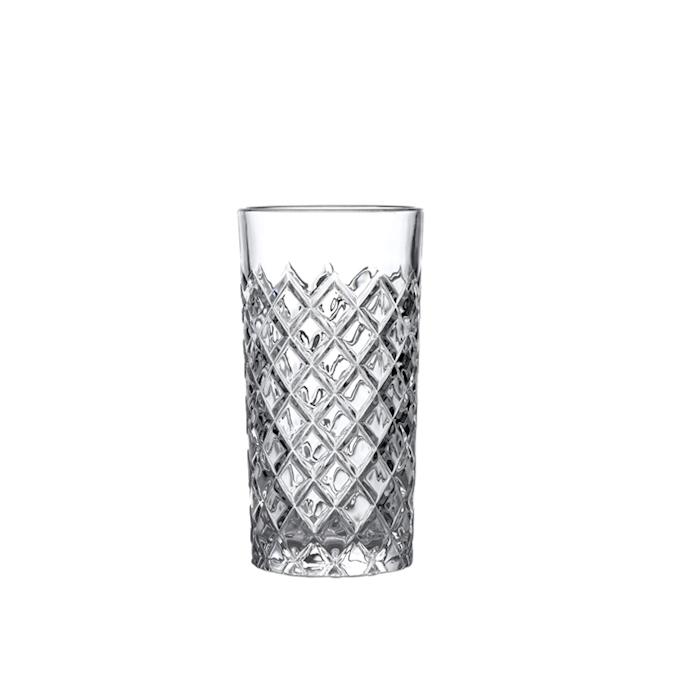 Bicchiere Healey taglio a rete in vetro cl 42