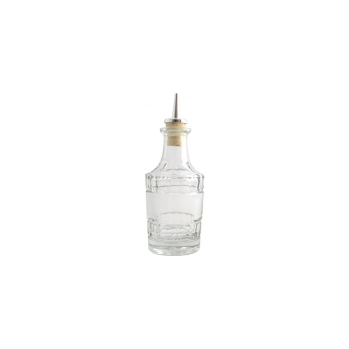 Bottiglia angostura Retrò in vetro con tappo cl 10