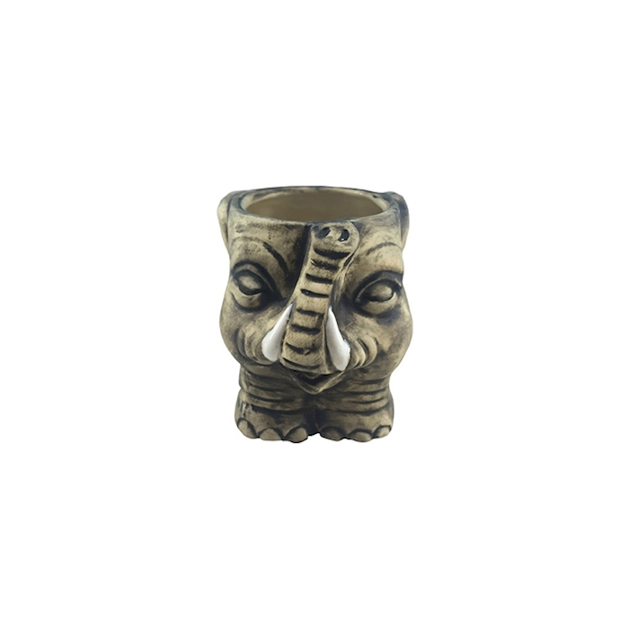 Tiki mug Elefante in ceramica grigia cl 35