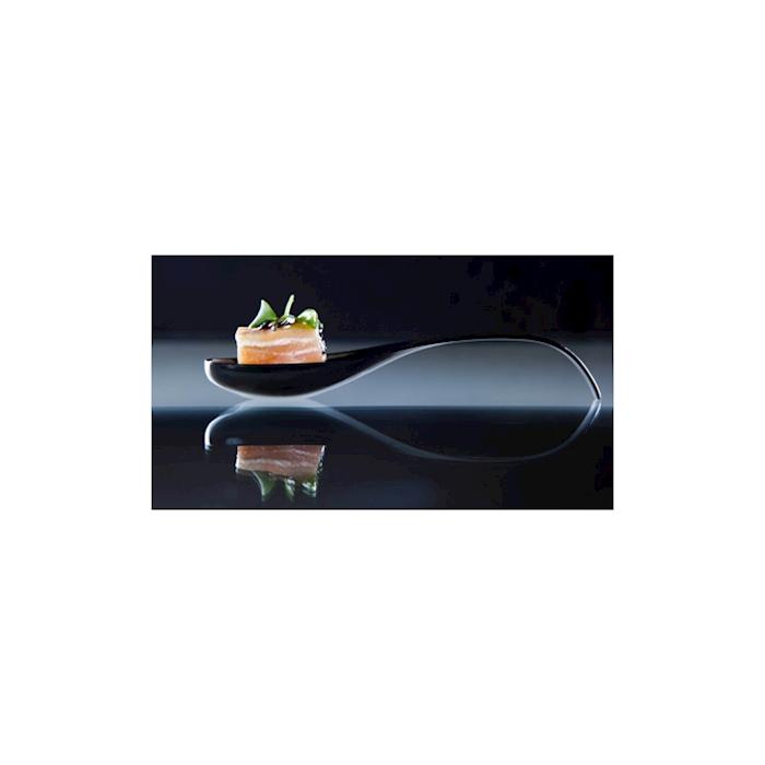 Cucchiai Sphera Araven in plastica nera cm 11,5