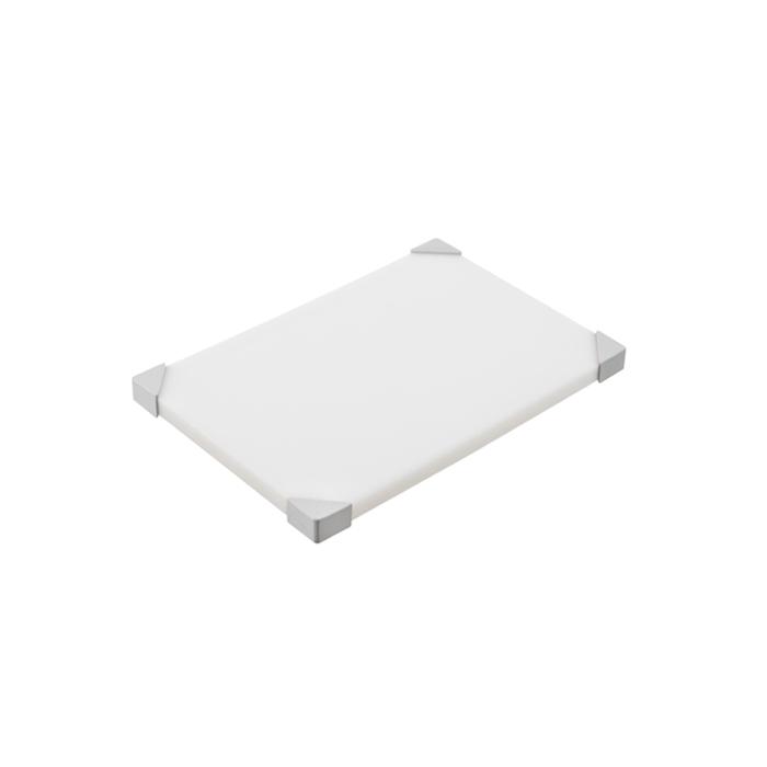 Tagliere Araven in policarbonato bianco cm 30,4x20,4x1,9