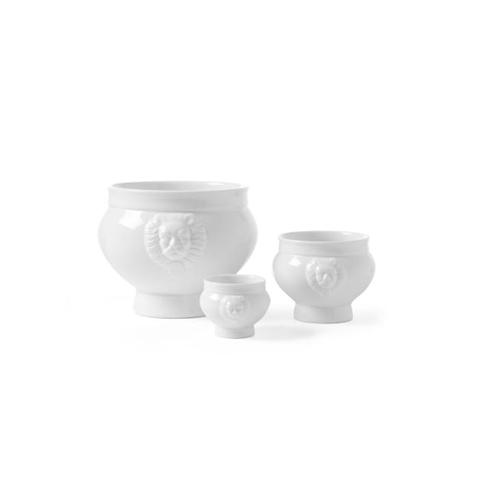 Zuppiera Testa di Leone Hendi in porcellana bianca cl 50