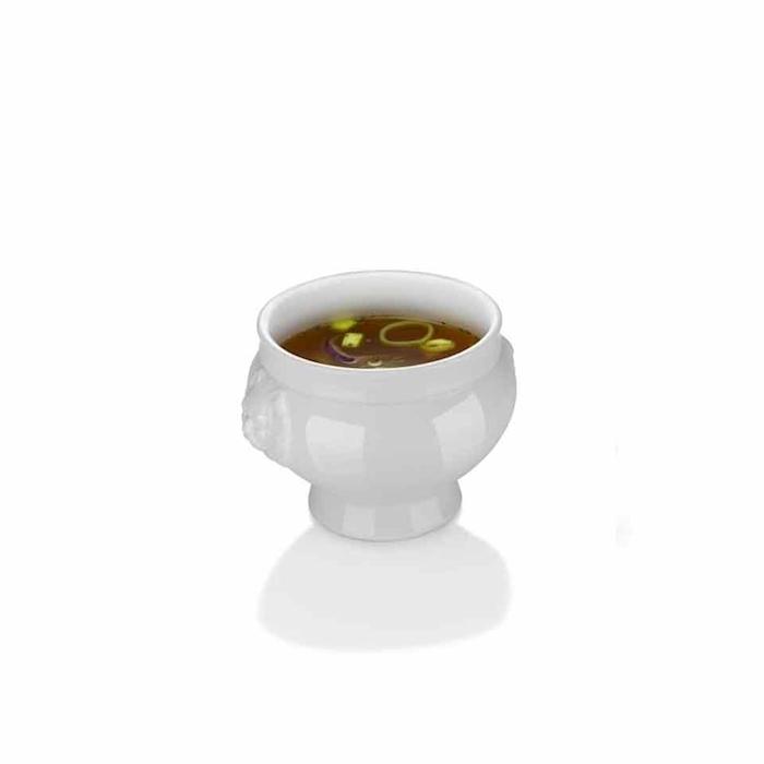 Zuppiera Testa di Leone Hendi in porcellana bianca cl 25