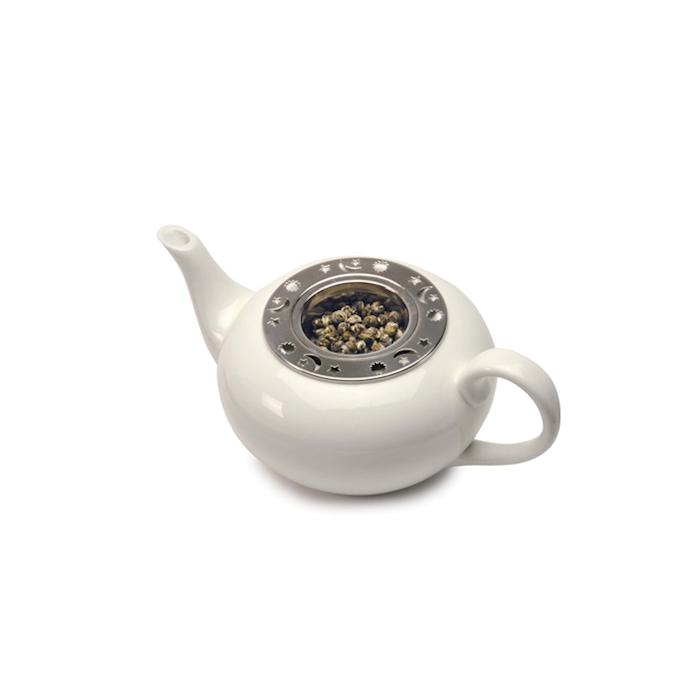 Filtro tè con decori in acciaio inox