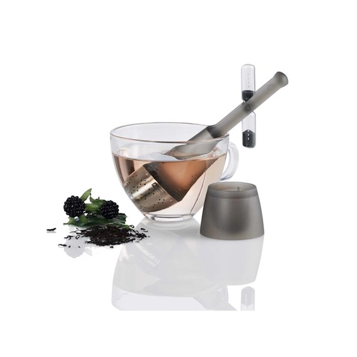 Filtro tè con clessidra girevole grigio
