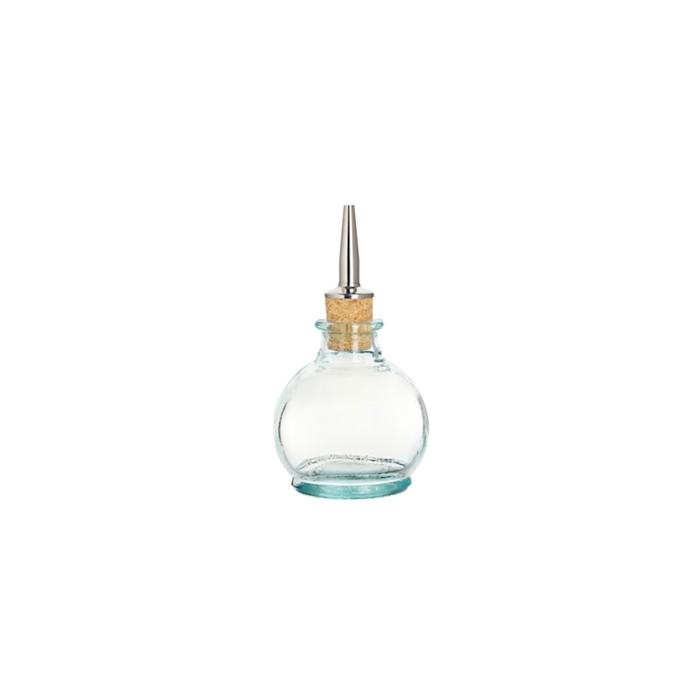 Bottiglia angostura tonda Madrid con tappo in vetro cl 15