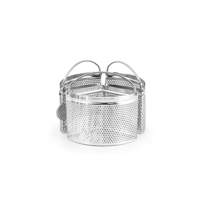 Colapasta 3 spicchi Alessandro Borghese in acciaio inox cm 18x10