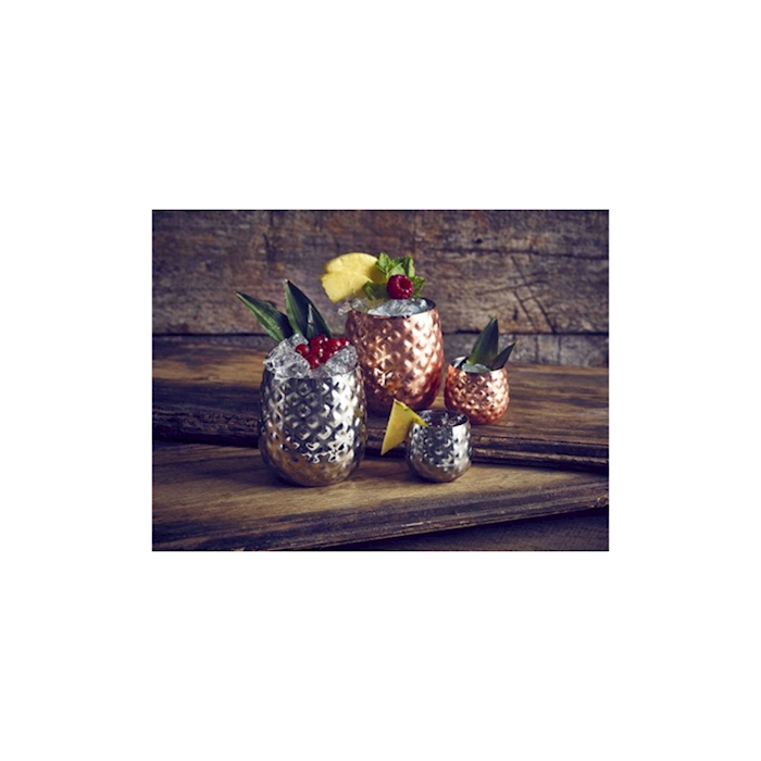 Bicchiere Pineapple in acciaio inox ramato cl 44