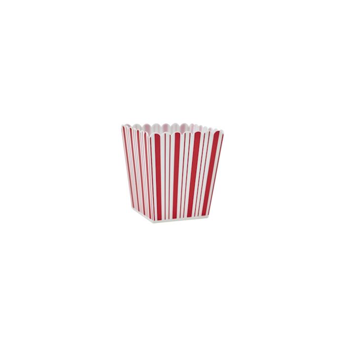 Contenitore Pop Corn America in plastica bianco e rosso cl 40