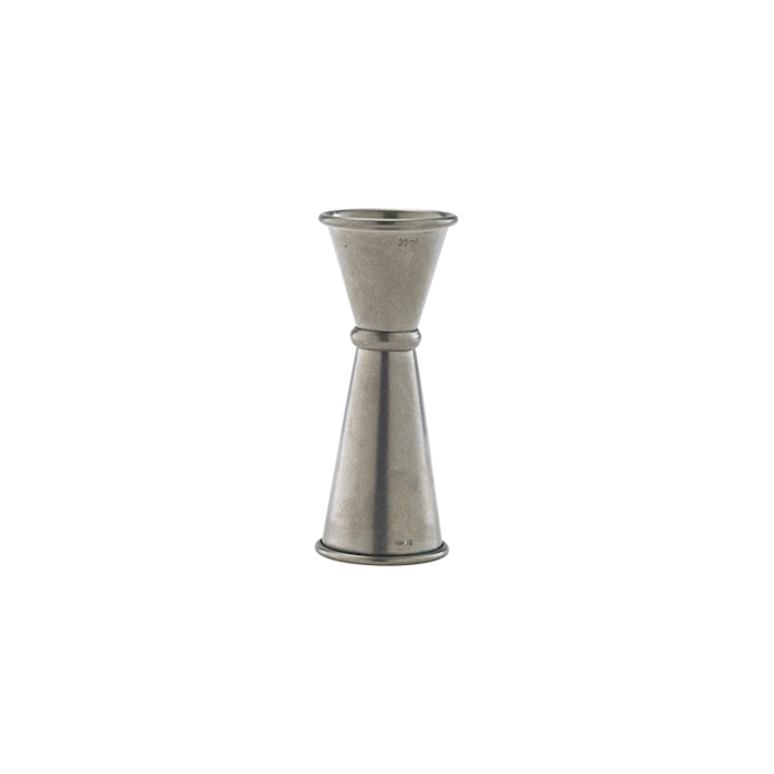 Jigger linea Vintage in acciaio inox anticato cl 2,5-5